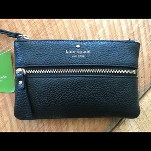 Kate Spade cobble hill bee wristlet NWT